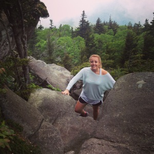 Hiking the Daniel Boone Scout trail in the blue ridge mountains during the summer of 2014.