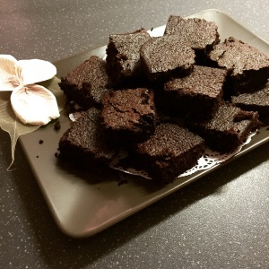 Homemade chocolate brownies made with almond flour. The recipe is on my Instagram!